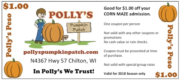 2018 Polly's Peso - $1 Off coupons!